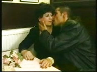 Kissing fucking granny Chubby old granny fucked in cafe with young man