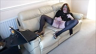 Alison - Caged and horny as she live streams