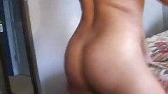 Latina maid fucks two American dudes mmf