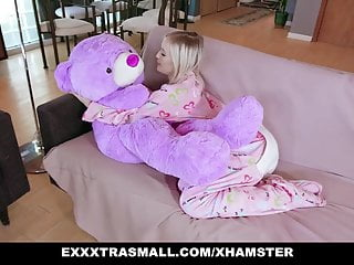 Rock bottom house Exxxtrasmall - small tits blond gets rocked by huge cock
