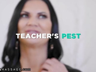 My first busty teacher Nurumassage my busty former teacher-jasmine jae rubbed me