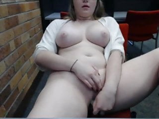 Public place naked Beautiful chubby cums in public place