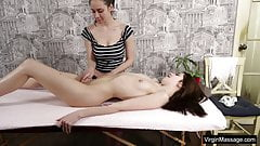 Nataha Normalek gets orgasms from her masseuse