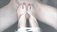 fireflys TIED UP FOOTFUCK and CUMPLAY IN STRIPPER HEELS