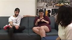 Chubby Maria and her big dicked friend Fede teach Alba