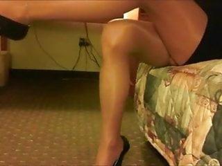 Stockings pantyhose legs Shiny pantyhose legs
