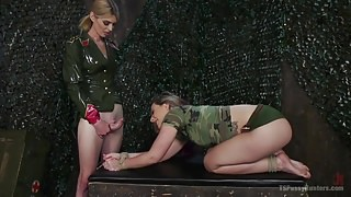 Sexy Soldier Mandy Mitchell Uses Enhanced Anal Interrogation