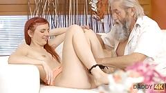 DADDY4K. Slutty ginger makes love to gentleman