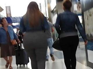 Weight lifter ass blown out photo - Candid. all her weight went to her ass.