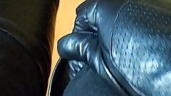 Black high boots fetish gloves mistress