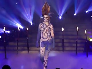 Sexy brizilian girls nude Sexy girls nude body painting television show contest
