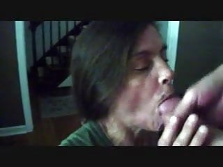 Cum swallowing mature - Swallowing cum