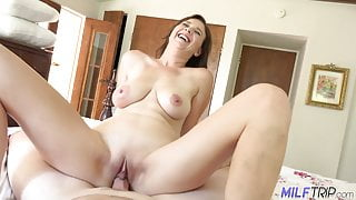 MILFTRIP Busty MILF Lyft Driver Alice Chambers Convinced To