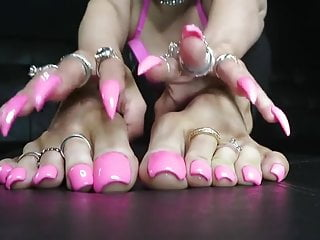 Name dominations of american money Girl with fake pink toenails feet joi-anyone know her name