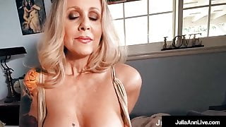 Busty Beautiful Cougar Julia Ann Gets Dick Drilled In POV!