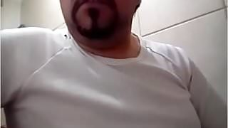 Daddy cum in badroom webcam