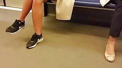 Spy face teens girl in subway romanian