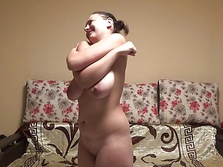 Slut stupid - Stupid slut stretches her ugly saggy tits hard