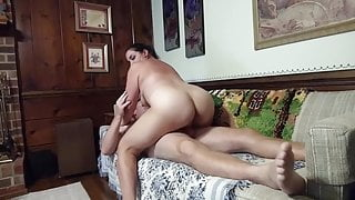 PAWG amateur MILF twerking on some cock