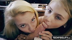TeenFidelity Hannah Hays и Riley Star - двойные проблемы