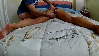 A nice massage with final blowjob