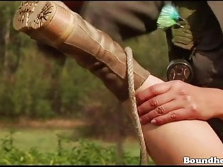 Teen huntress - Lesbian huntress finds a new playmate