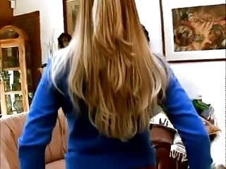 Busty sweater tight Blue sweater handjob