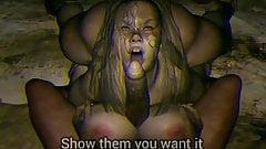 Рабыню трахнул в сиськи ее старый господин (видео от первого лица)