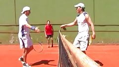 Young Euro guys fucking hard after their tennis match