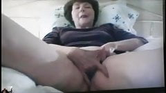 Grandma masturbates and reaches climax