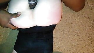 White wife taking BBC in her ass