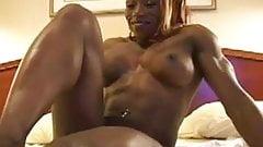Super Hot Muscular Ebony Wants Rub Your Dick