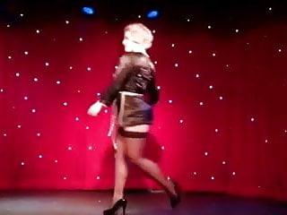 Bondage burlesque - Burlesque striptease by perfect nordic-western blonde woman