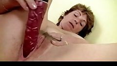 Busty Hairy Mature Toys Her Awesome Cunt