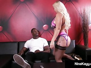 Cock sucking cum gagger - Chunky gagger nina kayy takes big black cock in her big butt