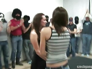 Muscle gang bang Busty girl at czech gang bang party