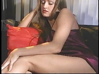 Leg sexy tit Sexy young brunette spreads legs and fingers her wet pussy on the couch
