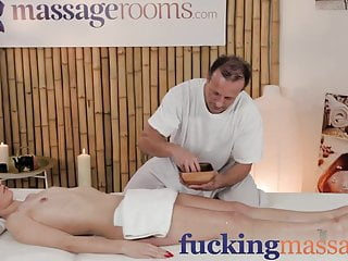Man oiling woman porn - Massage rooms petite woman has tits oiled