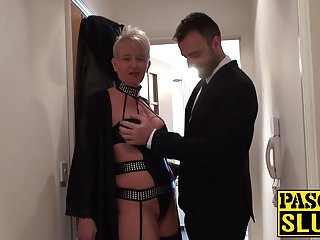 Mature anal swallow Chubby milf with a short hair receives a bdsm treatment