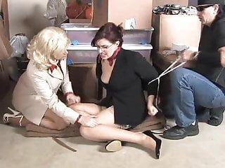 Women in bondage to amazons 2 women in warhouse