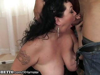 Big white ghetto booty fucked - Bbw milf licks all over his balls