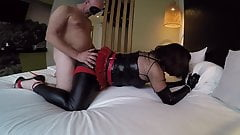 Long anal orgasm for a kinky shemale