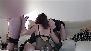 Vivi and Mila have fun with a horny stallion