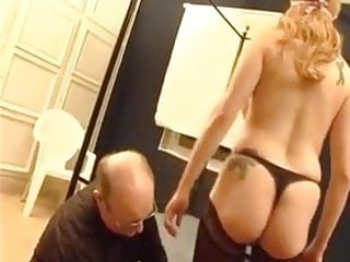 Amateur gang fest - French blonde amateur gang bang