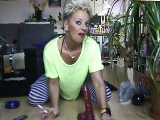 Cocaine smoking ladies thumbs - German stepmom mature sachsen lady smoking anal dildo