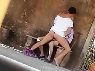 Blowjob in public place Old man fuck youngest girl in public place