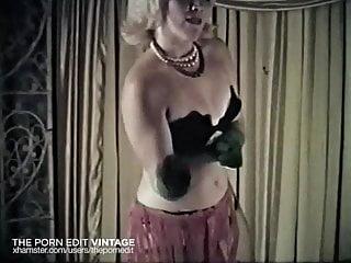 Vintage stockings - Twist again - vintage stockings blonde dance tease