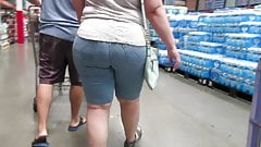 Thick BBW PAWG MILF thick ass in shorts