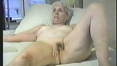 Granny lets you jack off to her pussy.