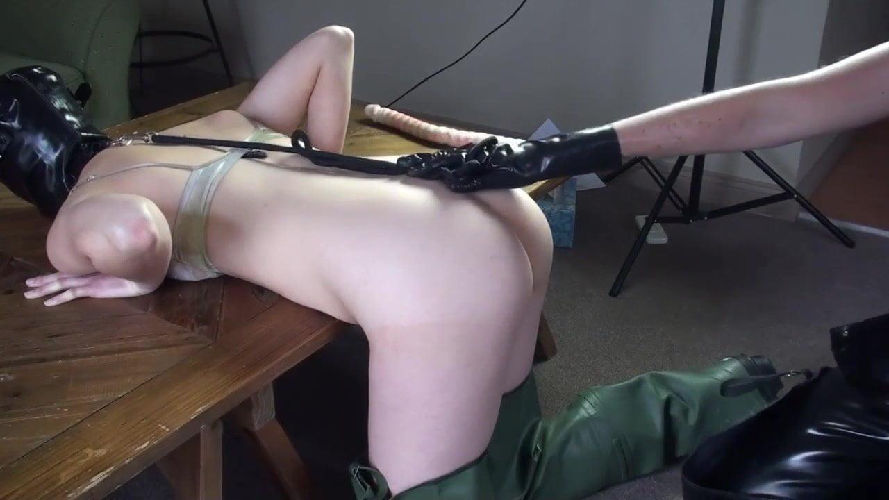 Rubber slave fuck